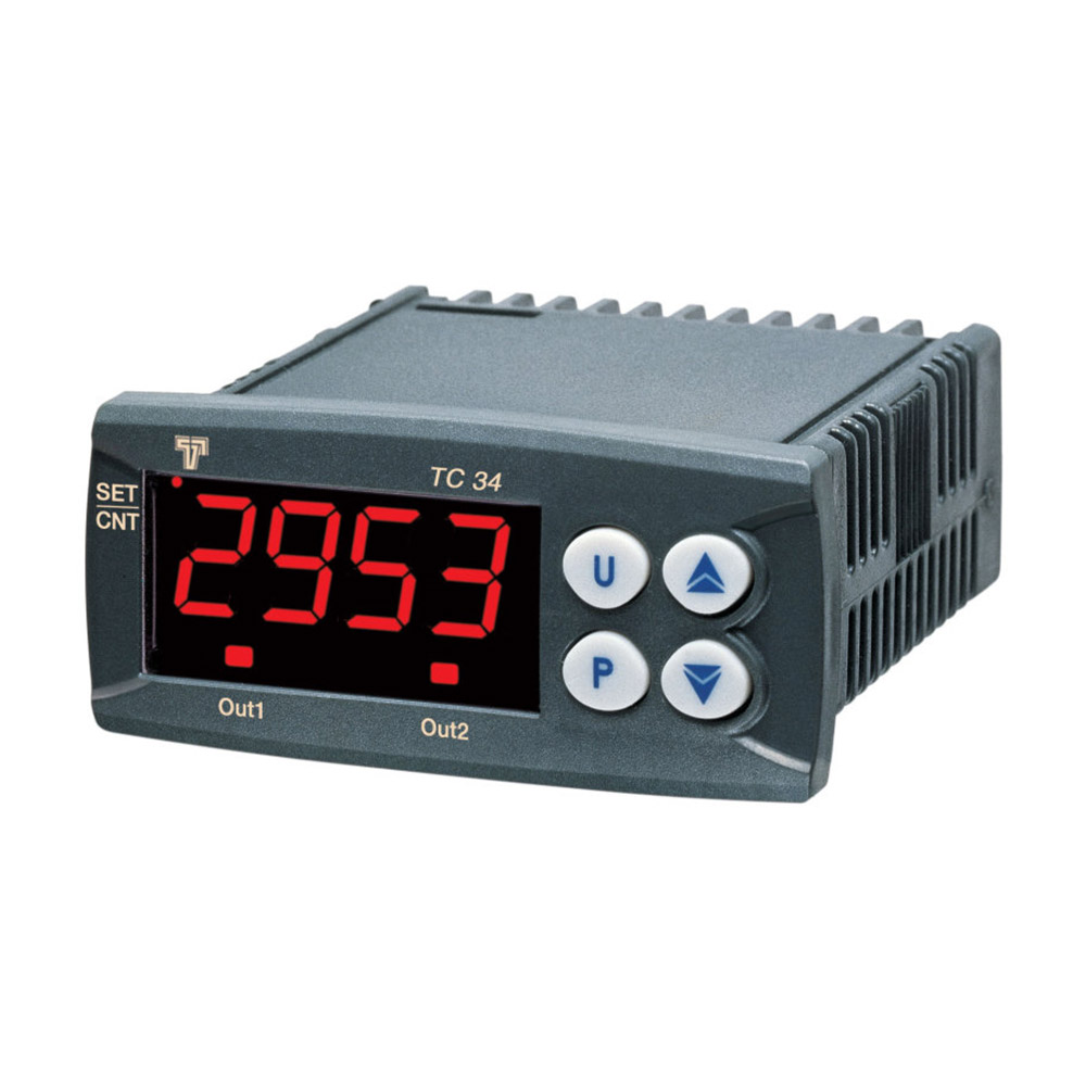 TC34HCR PANEL MOUNTED DIGITAL COUNTER 100240V SUPPLY 2 VOLTFREE