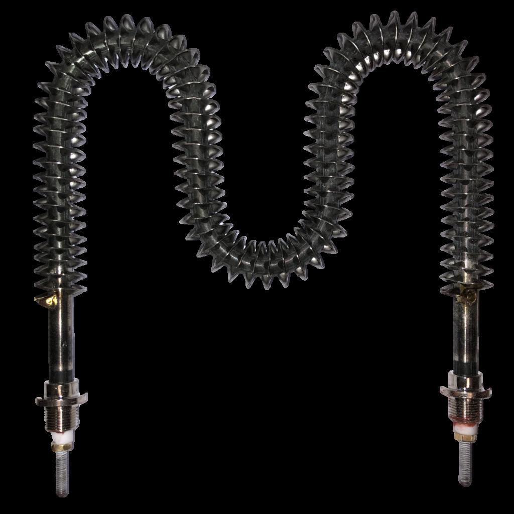 tecnologic formed finned tubular element  8mm dia st  steel sheath  1 5kw  480v  m12x 1 threaded